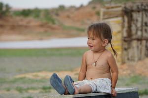 Mädchen, Mongolei, Reise, weltreise