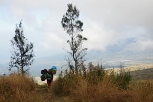 Träger, Mount Rinjani, Asie, Weltreise